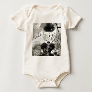 watchb&w baby bodysuit