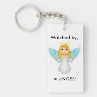 Watched by Angels Keychain