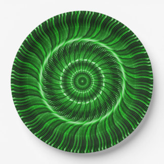 Watcher of the Green Mandala 9 Inch Paper Plate