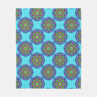 Watchful Eyes Mandala Fleece Blanket