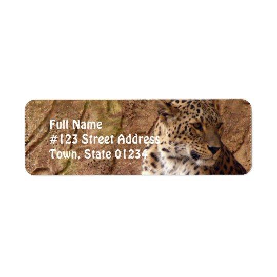 Watchful Leopard Return Address Label