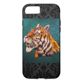 Watchful Tiger Teal iPhone 7 Case