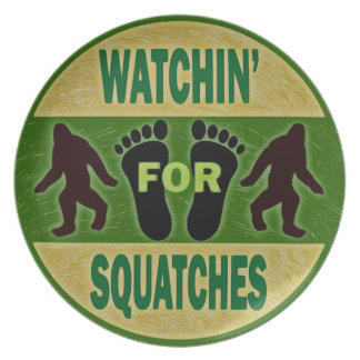 Watchin' For Squatches Plates