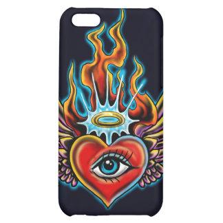Watching Angel Eye Winged Heart Halo Design iPhone 5C Case