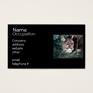 Watching Cougar Business Card
