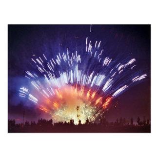 Watching Fireworks Postcard