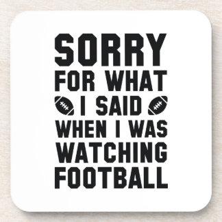 Watching Football Beverage Coaster