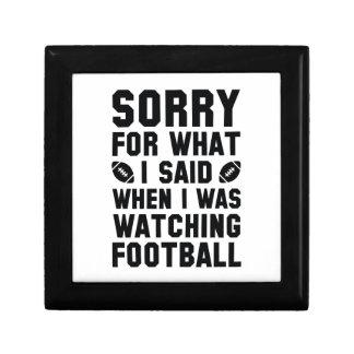 Watching Football Keepsake Box