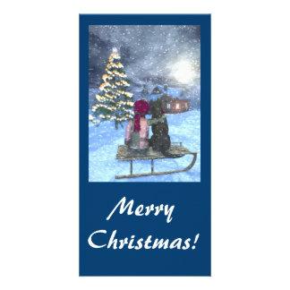 Watching for Santa Christmas Card Photo Cards