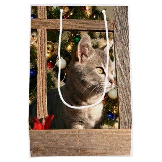Watching for Santa Medium Gift Bag