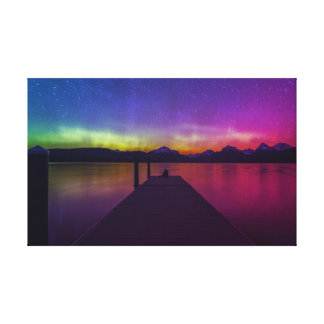 Watching The Aurora Borealis Canvas Print
