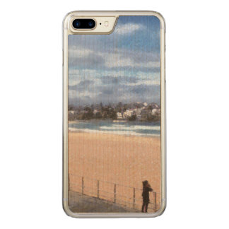 Watching the beach carved iPhone 7 plus case