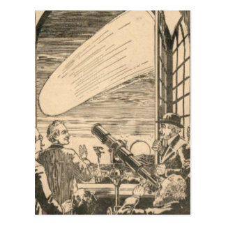 Watching the Comet Postcard