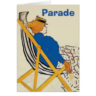 Watching The Parades, edit text Card