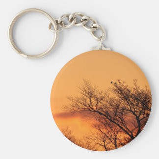 Watching the Sunrise Basic Round Button Keychain