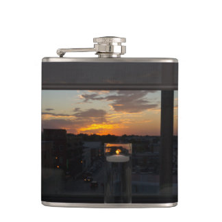 Watching The Sunset Hip Flask