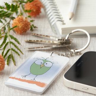 Watching your Keys Double-Sided Rectangular Acrylic Keychain