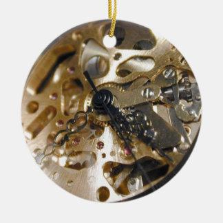 Watchmaker clock working round ceramic ornament