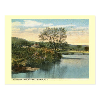 Watchung Lake, Plainfield, New Jersey Vintage Postcard