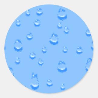 water016 classic round sticker