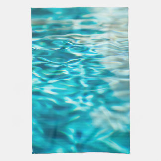 Water Abstract Blue Green Turquoise Aqua Sea Kitchen Towel
