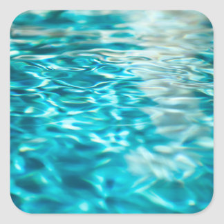 Water Abstract Blue Green Turquoise Aqua Sea Square Sticker