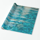 Water Abstract Blue Green Turquoise Aqua Sea Wrapping Paper