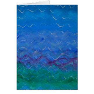 """""""Water"""" - Acrylic painting on blank greeting card"""