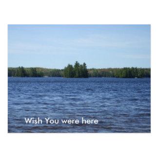 Water and Bue Sky Scene Postcard