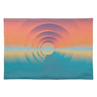 water and horizon placemat