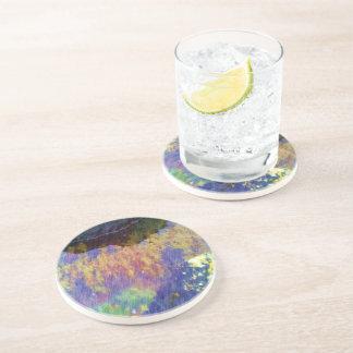 water and kelp drink coasters