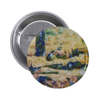 Water and river delta 2 inch round button