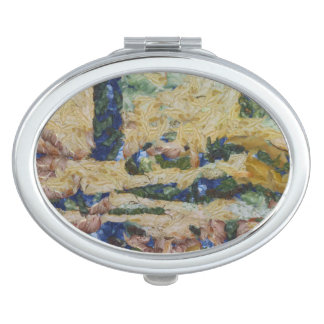 Water and river delta travel mirror