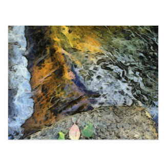 Water and rock postcard
