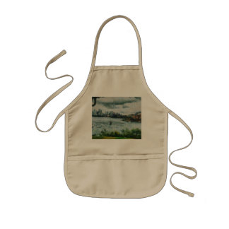 Water and scenery kids apron