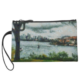 Water and scenery wristlet clutch