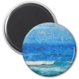 Water and sky 2 inch round magnet
