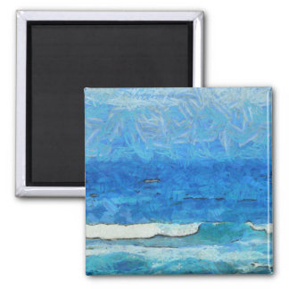 Water and sky square magnet