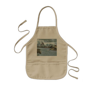 Water and skyline kids apron