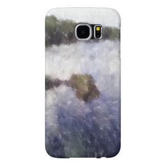 Water and small island art samsung galaxy s6 cases
