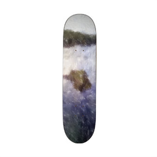 Water and small island art skateboard deck