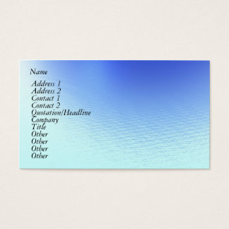 Water and Wind Business Card