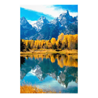 Water Autumn Grand Teton National Park Stationery