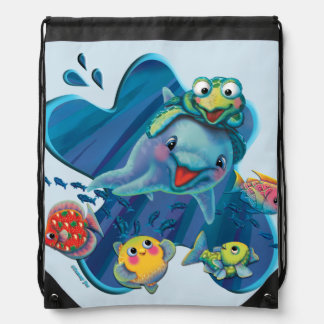 Water Babies Drawstring Bag