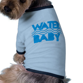 Water Baby cute with ocean waves Dog T Shirt