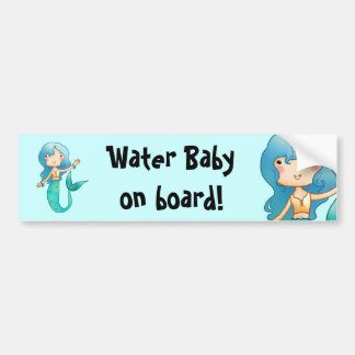 Water Baby on Board Bumper Sticker