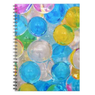 water balls spiral notebook