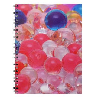 water balls texture notebooks