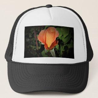 Water Beads on Orange Rose Trucker Hat