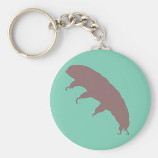 Water Bear Tardigrade Silhouette Cute Creature Keychain